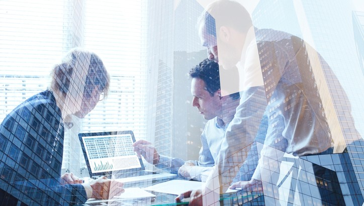 teamwork concept, business team working together