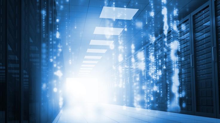 Matrix falling in data center